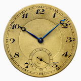 Antique clock. Against a white background Royalty Free Stock Photos