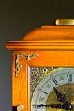 Antique clock. With elegant face and quarter view Stock Photo
