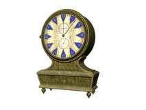 Antique Clock. Isolated antique clock Royalty Free Stock Images