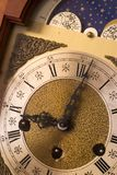 Antique clock. Closeup of antique clock face: deadline, late for work, time running out Stock Photo