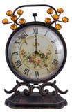 Antique clock. Isolated on white background Royalty Free Stock Photo