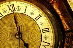 Antique clock. Extreme close up of an antique clock Stock Images