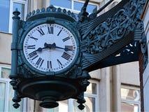 Antique clock.  stock photo