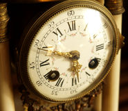 Antique clock. Dial of an 1700 th. century clock stock image