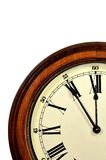 Antique Clock. Hands on an old vintage clock Royalty Free Stock Image