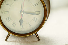 Antique clock alarm Stock Photography