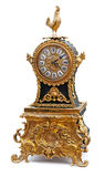 Antique clock with animals figurines Royalty Free Stock Photos