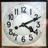 Antique clock with arabian figures Stock Photo