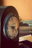 Antique clock artistic toned Stock Photos