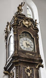 Antique clock in the church Royalty Free Stock Images