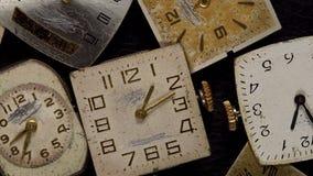 Antique clock dial close-up. Vintage pocket watch. Antique clock dial close-up. Vintage pocket watch,A macro closeup of an vintage clock stock video