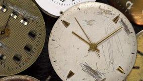 Antique clock dial close-up. Vintage pocket watch. Antique clock dial close-up. Vintage pocket watch,A macro closeup of an vintage clock stock footage