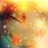 Antique clock fac. Very high quality original trendy vector antique clock face with roman numbers and vintage pointer isolated on blured boke background, happy royalty free illustration
