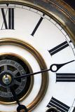 Antique Clock Face. This is a close up image of an antique clock face royalty free stock image
