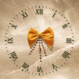 Antique clock face on the abstract background Stock Photos