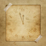 Antique clock face with hours Stock Photography