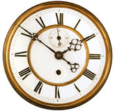 Antique Clock Face isolated Royalty Free Stock Image