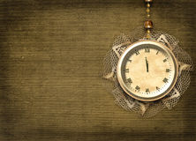 Antique clock face with lace Stock Photos