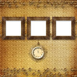 Antique clock face with lace Stock Photo