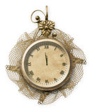 Antique clock face with lace Stock Photography