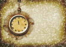 Antique clock face with lace Royalty Free Stock Image