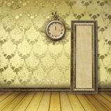 Antique clock face with lace Stock Images