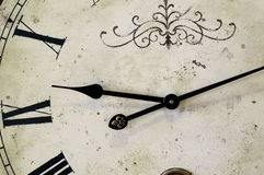 Antique clock face with roman numerals Royalty Free Stock Images