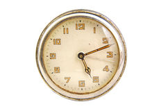 Antique clock face showing the time isolated  Stock Photography