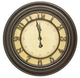 Antique clock face twelve background isolated Royalty Free Stock Images
