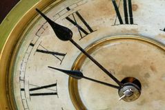 Antique Clock Face With Hands Stock Photos