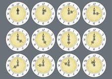 Antique clock faces Stock Photo