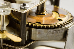 Antique clock gears Stock Photography