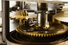 Antique clock gears Royalty Free Stock Photos