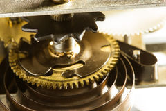 Antique clock gears Stock Image