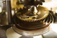 Antique clock gears Royalty Free Stock Photography