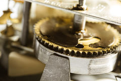 Antique clock gears Stock Images