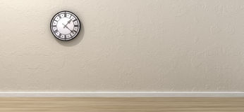 Antique Clock Hanging In Empty Room Royalty Free Stock Photo
