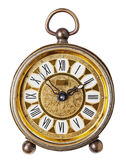 Antique clock isolated. Stock Images