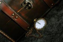 Antique clock. Antique looking clock. Retro image Royalty Free Stock Photos