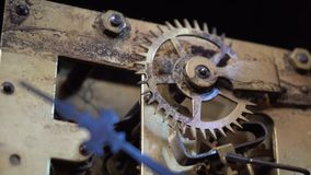 Antique Clock Movement stock video footage