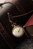 Antique clock. Old antique watch from other sites Stock Photography