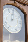 Antique clock with reflection of sky Stock Photo