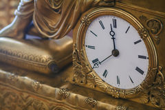 Antique clock with roman numerals Stock Photos