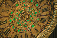 Antique clock with roman numerals Stock Photography