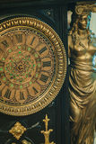 Antique clock with roman numerals Royalty Free Stock Photo