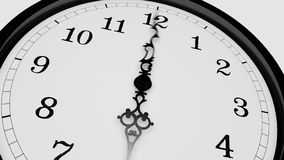 Antique clock in time-lapse loop stock footage
