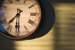 Antique Clock On Wall Stock Images