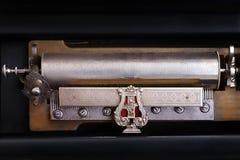 Antique clockwork musical box Stock Image