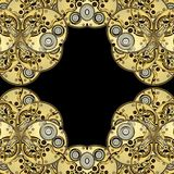 Antique clockworks abstract background Royalty Free Stock Photo