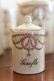 Antique clove jar Royalty Free Stock Photos
